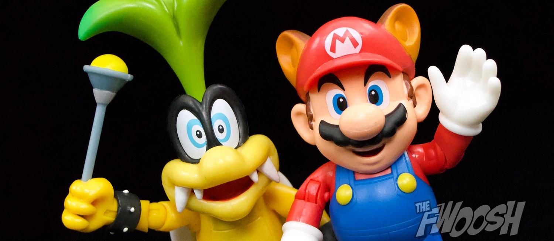 Jakks Pacific: World of Nintendo Iggy Koopa and Raccoon Mario |