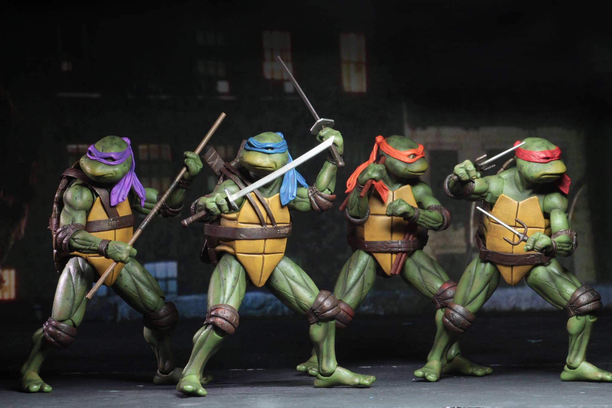 """Leonardo 7/"""" Action Figure @@ Teenage Mutant Ninja Turtles 1990 Movie NECA"""