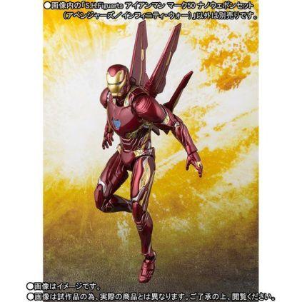 Bandai SH Figuarts Avengers Infinity War Iron Man Mark 50 Nano Weapons Edition Promo 09