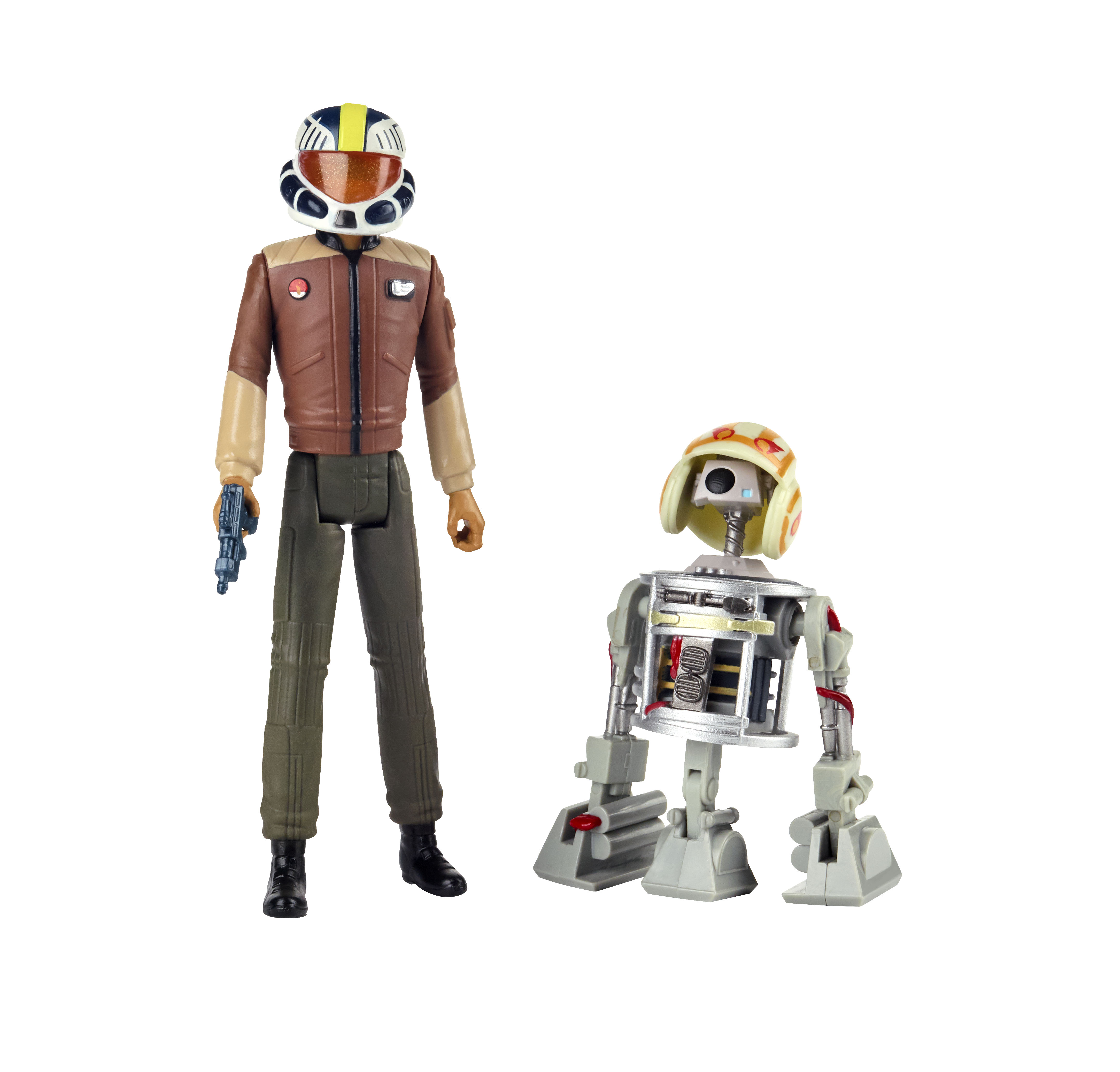 """Star Wars Resistance 3.75/"""" FIGURES 2 PACK WAVE 1 Yeager and Bucket Astromech Dro"""