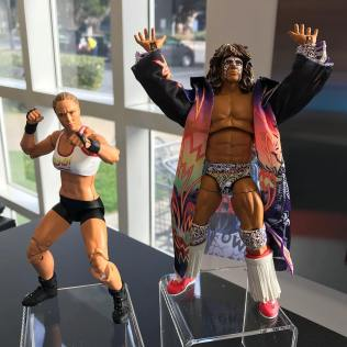 Mattel WWE Ultimate Edition Ronda Rousey and Ultimate Warrior Prototype 01