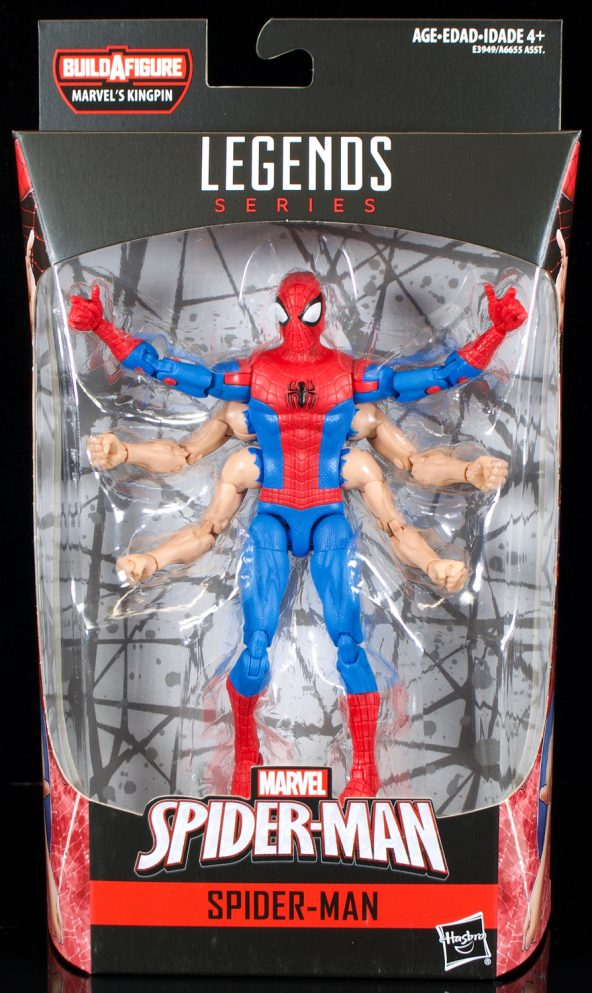 Marvel Legends Kingpin Wave SIX-ARM Spider-Man 6 Inch Action Figure IN STOCK!