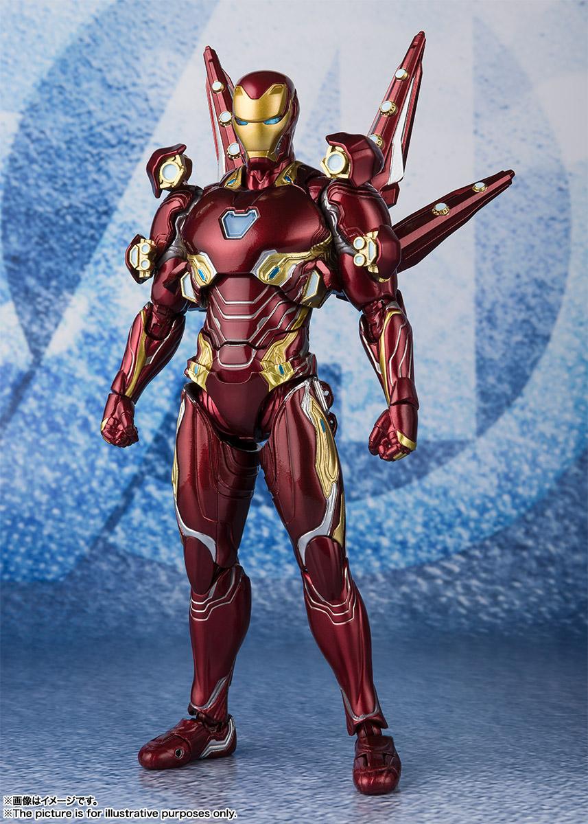 Bandai Tamashii Nations SH Figuarts Avengers Endgame Iron Man Mark 50 Nano Weapon Set 2 promo 02