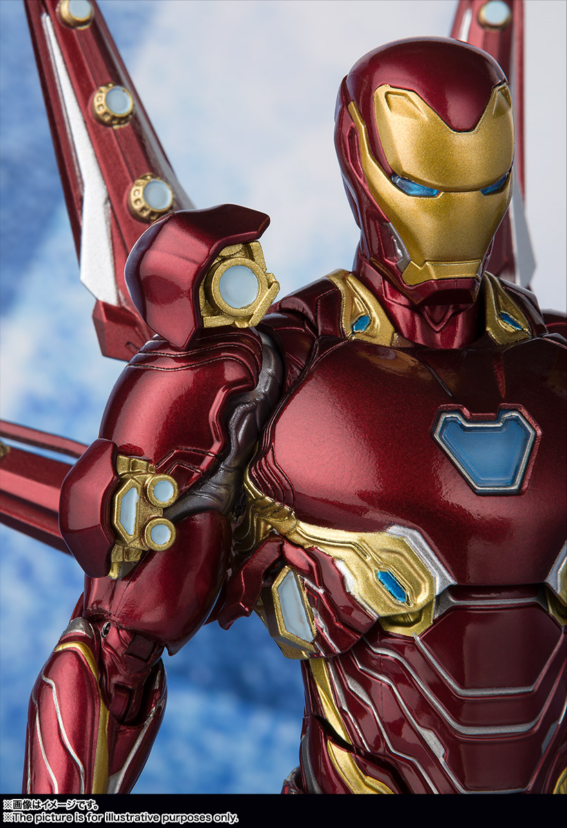 Bandai Tamashii Nations SH Figuarts Avengers Endgame Iron Man Mark 50 Nano Weapon Set 2 promo 05