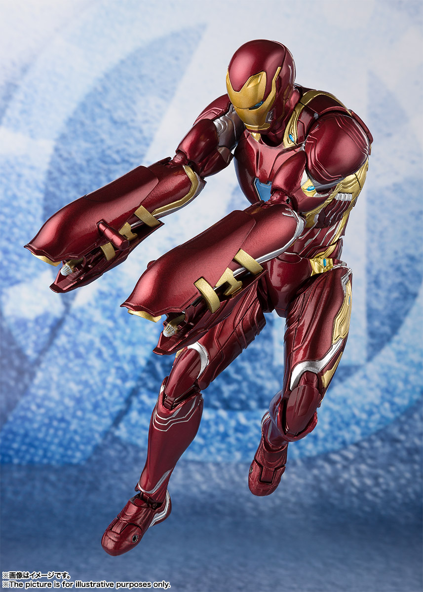 Bandai Tamashii Nations SH Figuarts Avengers Endgame Iron Man Mark 50 Nano Weapon Set 2 promo 08