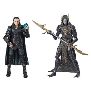 Hasbro Marvel Legends Avengers Infinity War Loki and Corvus Glaive Walmart Exclusive 2 Pack Promo 01