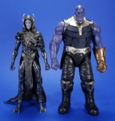 Hasbro Marvel Legends Avengers Infinity War Corvus Glaive and Loki 2 Pack Comparison 04
