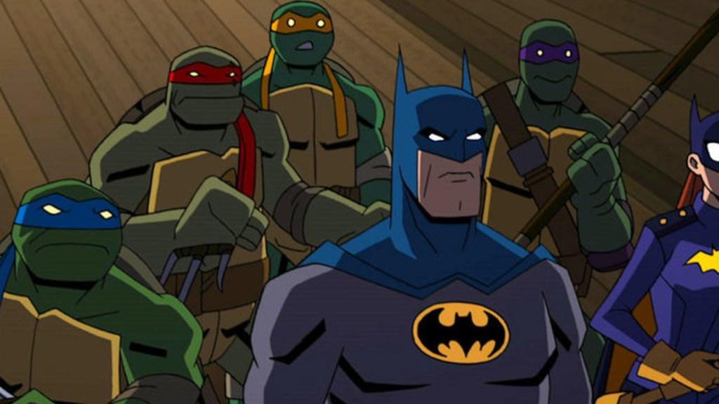 Batman VS TMNT Alfred /& Michelangelo 2 Pack Gamestop Exclusive