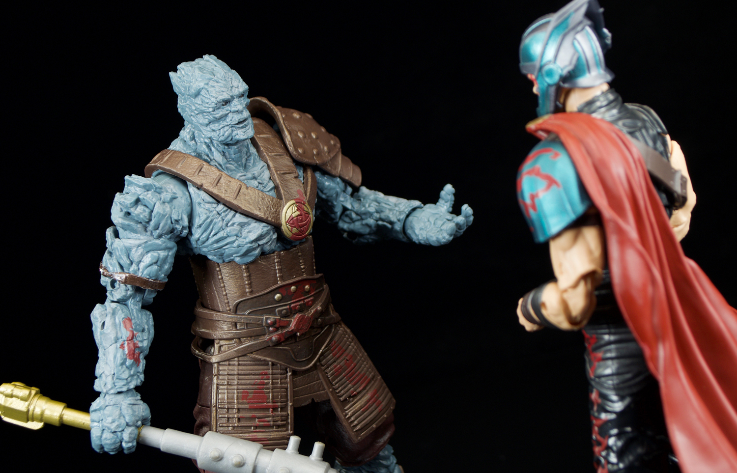Hasbro Marvel Legends Grandmaster And Korg And Skurge And Hela Two Packs Review Fwoosh