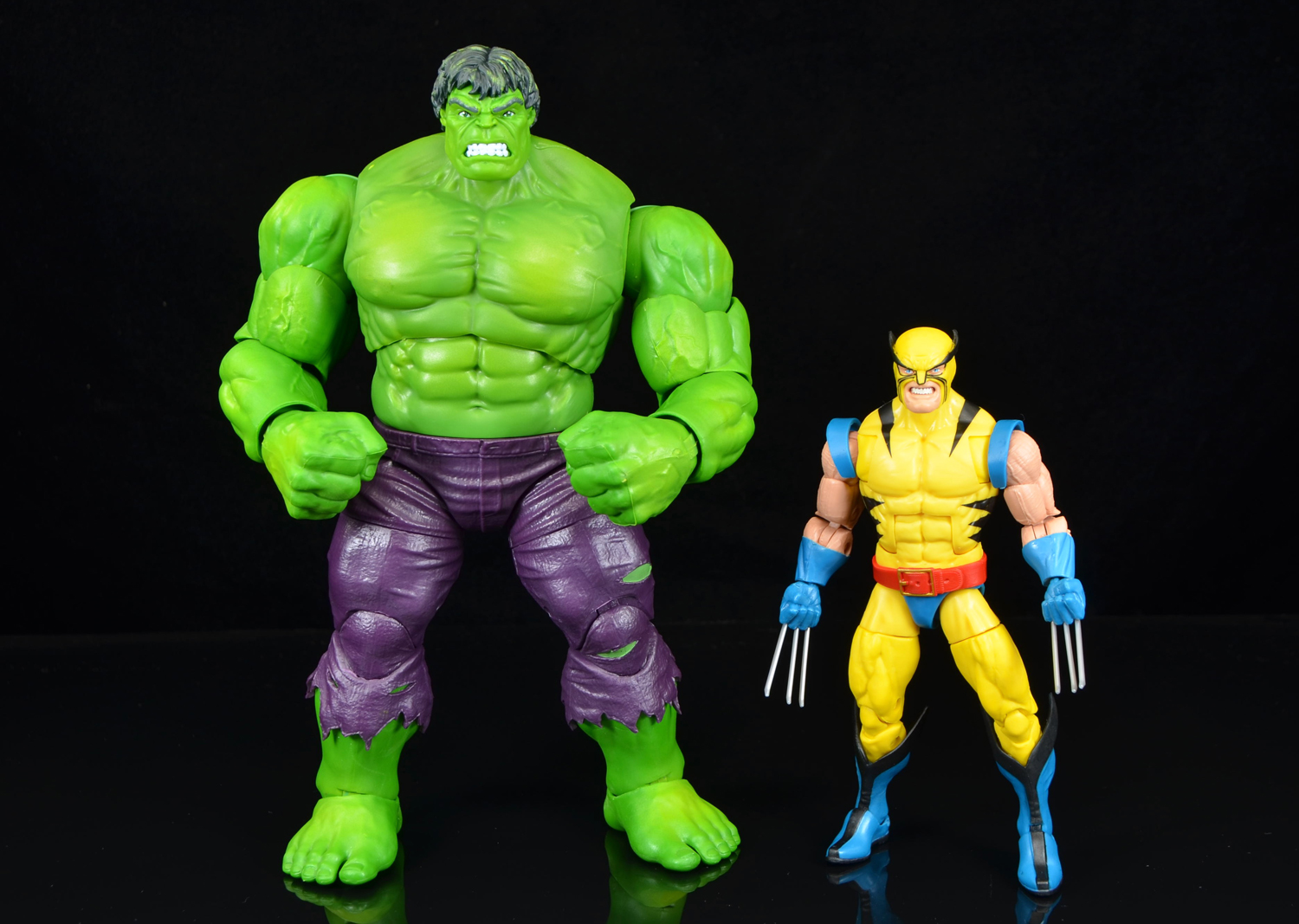 IN HAND MARVEL LEGENDS 80TH ANNIVERSARY WOLVERINE /& HULK COMICS VERSION 2 PACK
