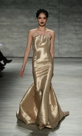 More from Venexiana; gold gowns..