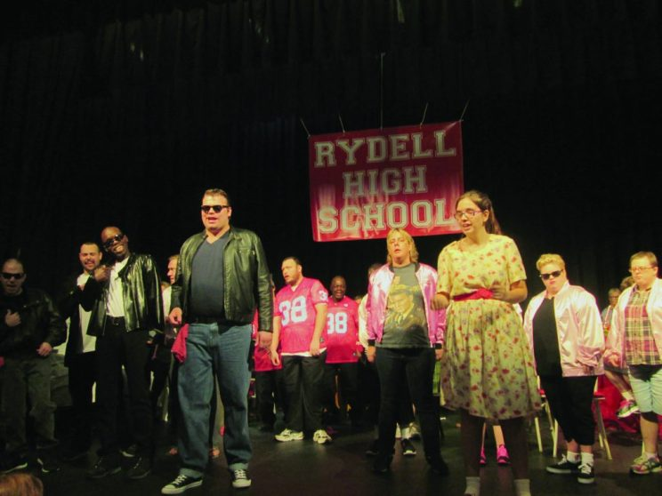 "The Synchrony Arts Productions cast of ""Grease"" perform at the Catherine Hickman Theater during dress rehearsal."