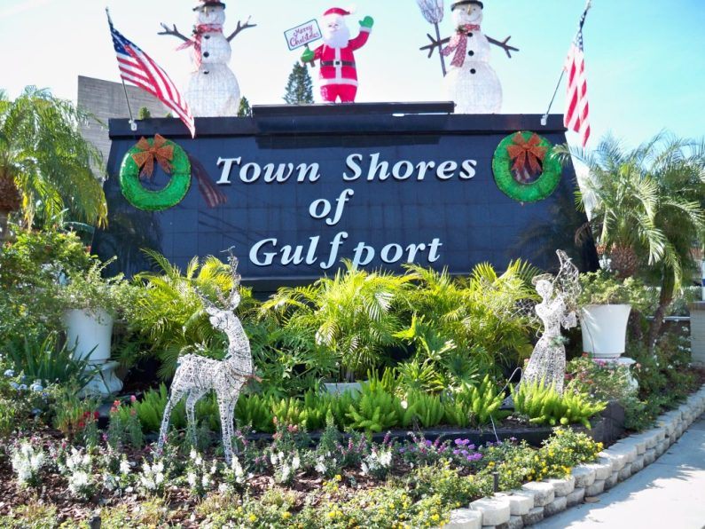 Town Shores, one of many local residences and businesses decked out for the holidays.