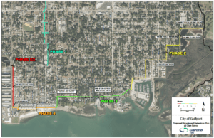 Proposed trail system. Courtesy of the City of Gulfport.