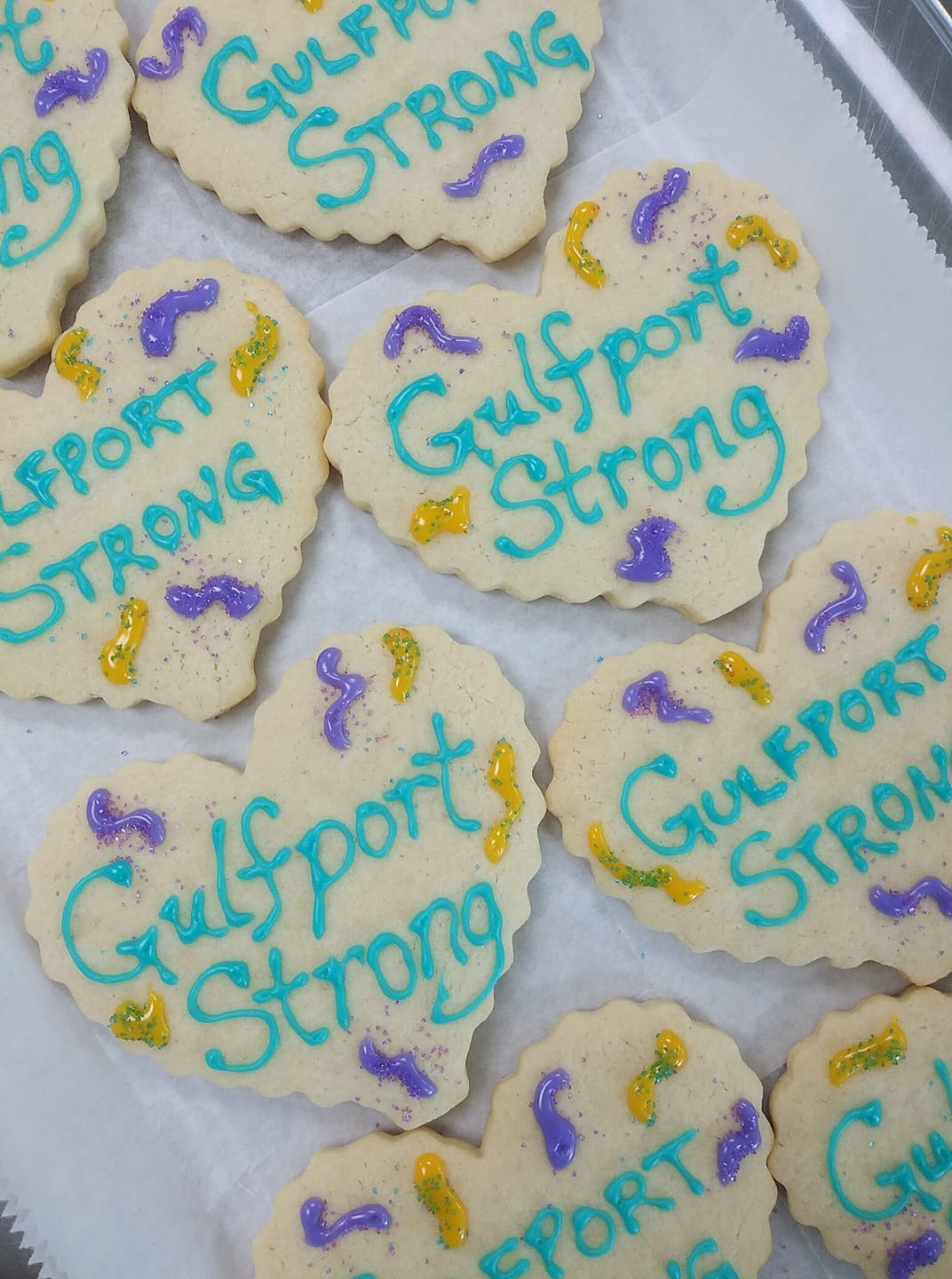 """Gulfport Strong"" cookies."