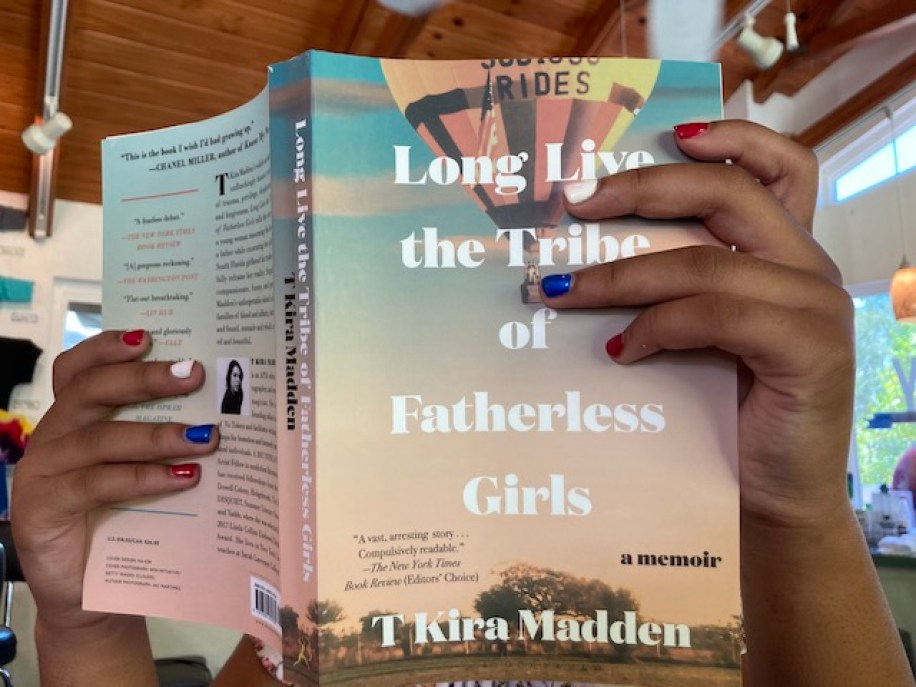 """A photo of the cover of """"Long Live the Tribe of Fatherless Girls"""" by T Kira Madden"""