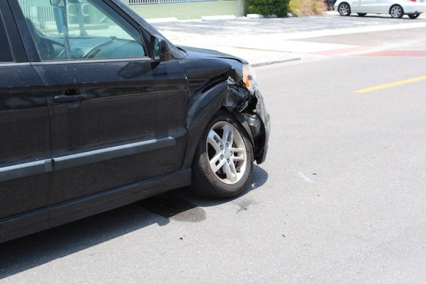 car hit by Gulfport Florida police car