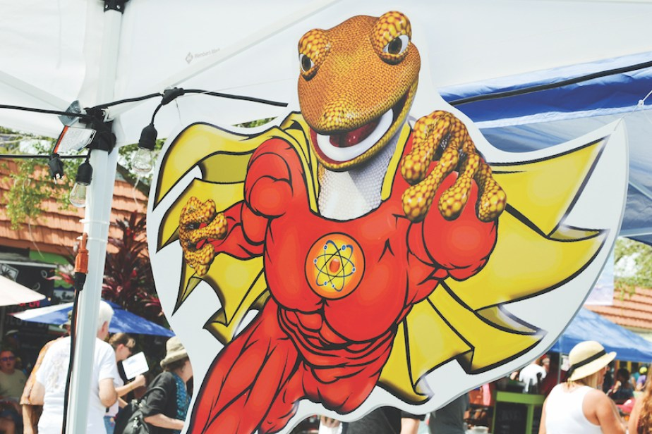 GeckoFest's 2018 mascot. for GeckoCon theme