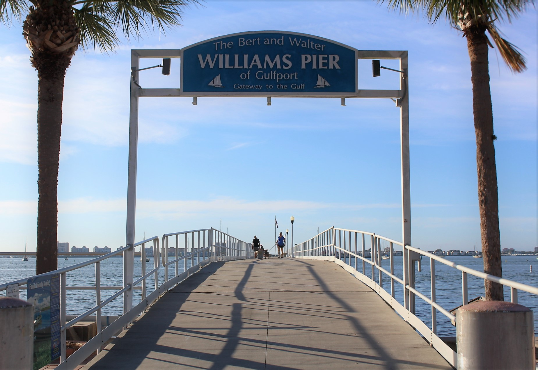 The entrance to Williams Pier in Gulfport Florida