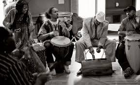 A Kwanzaa drum circle