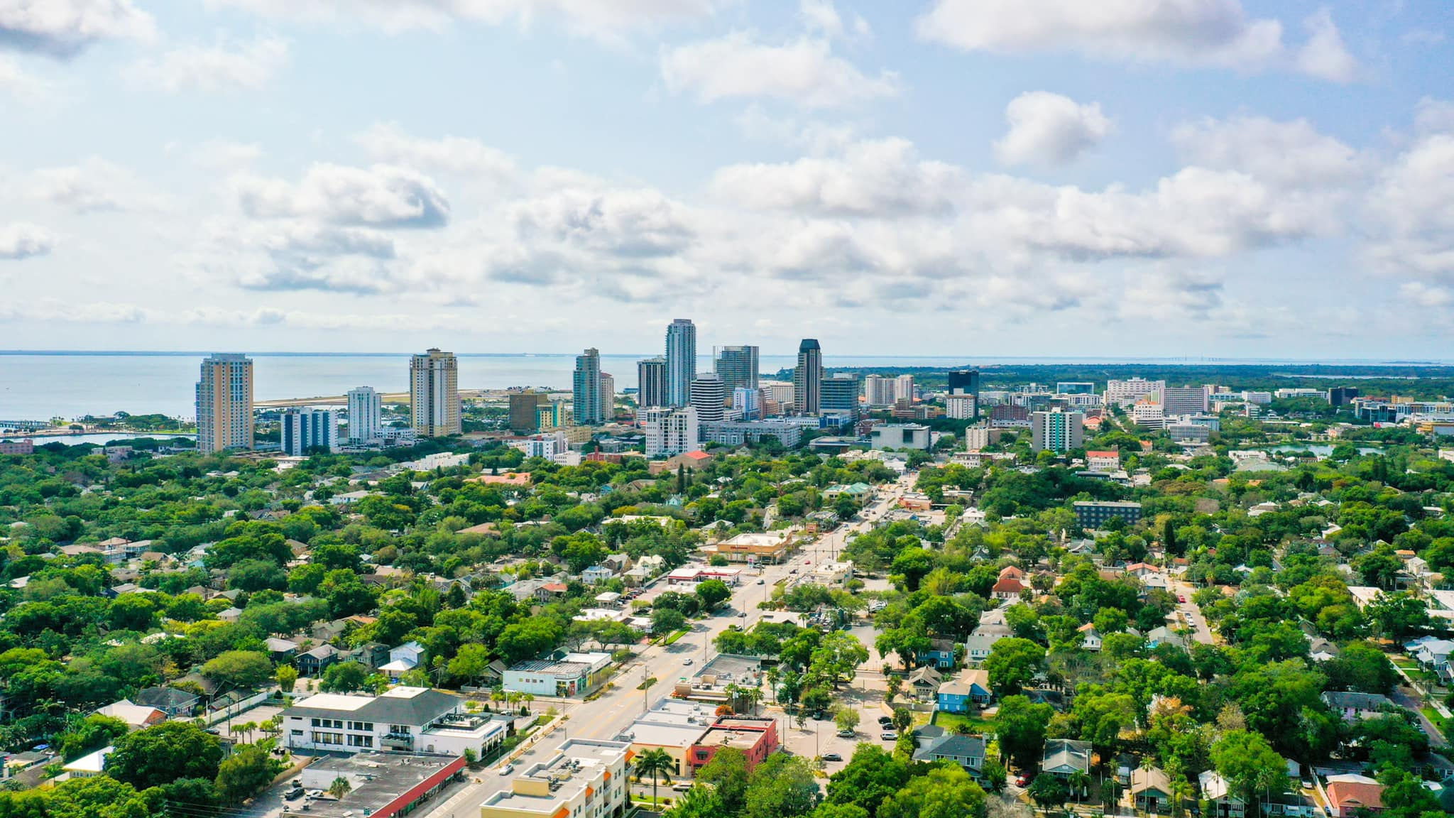 Skyline from the City of St. Petersburg Florida.