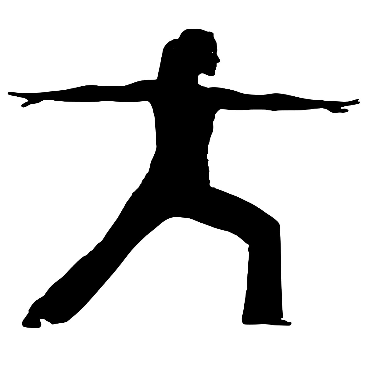 Cartoon of a woman doing pilates