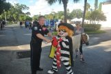 Every year Chief Vincent arrests the Hamburger...and every year he gets away!
