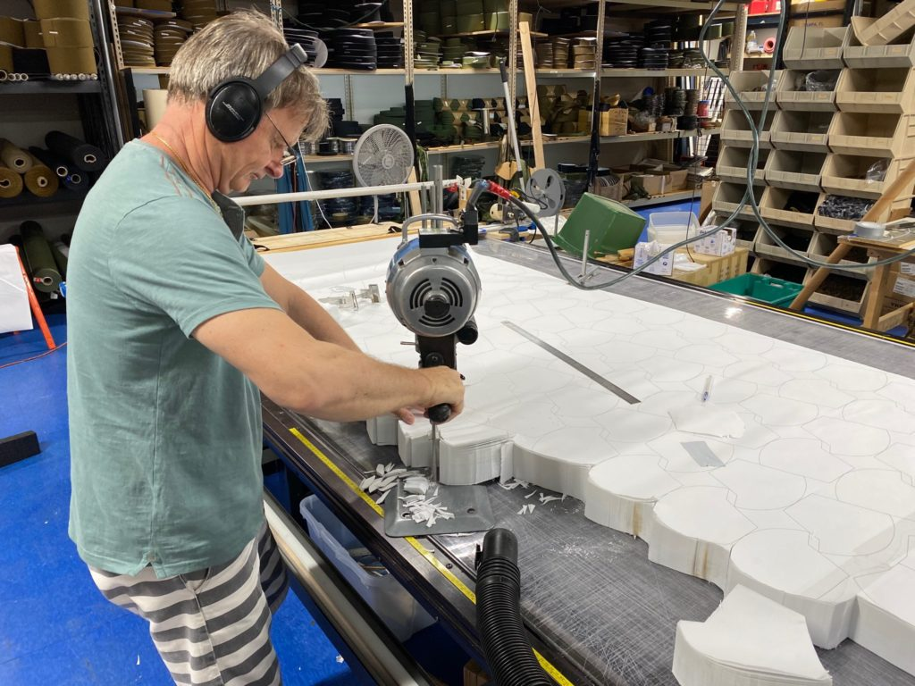 Mark Wheeler makes face shields at Wheeler Bags' facility in St. Petersburg