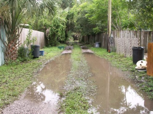 An alley near Stetson University Monday afternoon.
