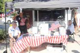 Richard Corsale and Gregory Foutz take donations and provide information about the Veterans Health Network.