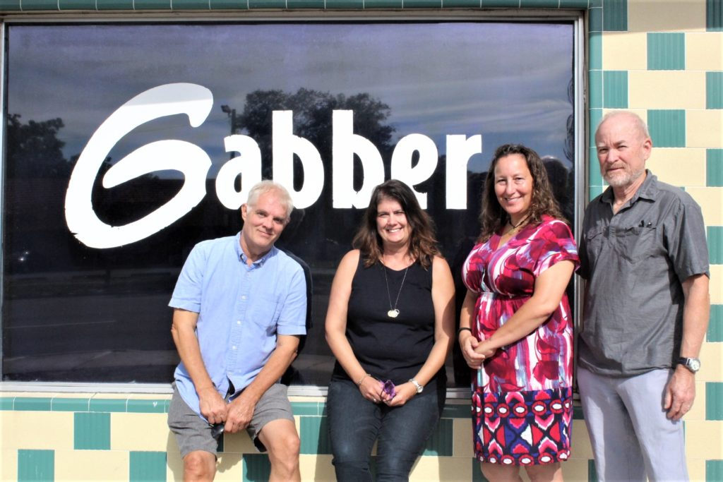 Former Gabber owners Ken and Deb Reichart, left, with new owners Cathy Salustri Loper and Barry Loper. The Gabber sale was official June 22, 2020.