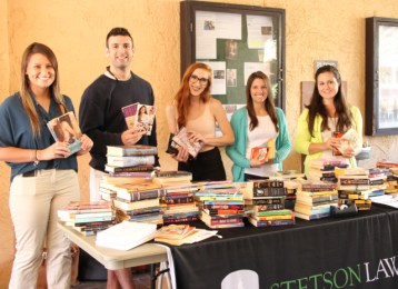 Stetson Law Review students gathered hundreds of books to donate to local teens during Teen Read Week 2015 at the Gulfport Public Library.