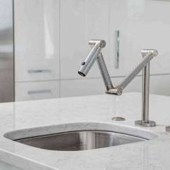 Articulating Kitchen Faucet Crown Molding For Cabinets Kohler Karbon Deck Mount Gadget Flow