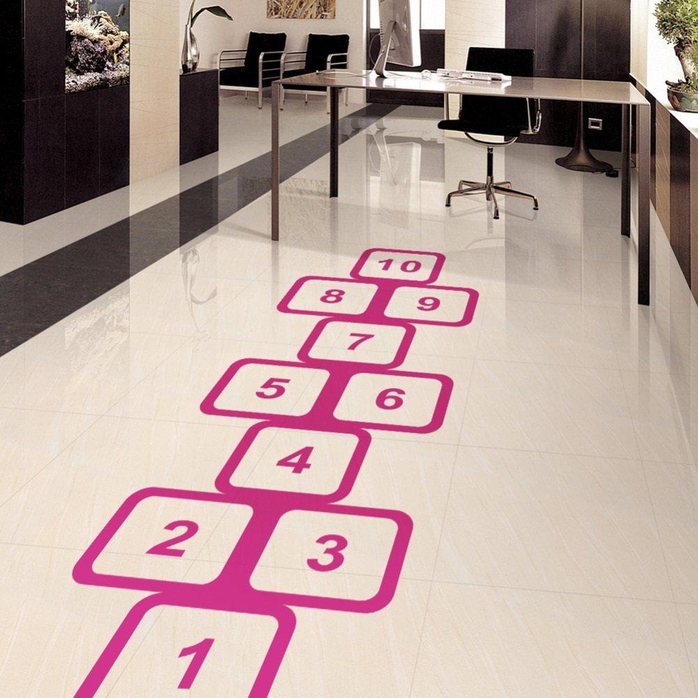 Hopscotch Vinyl Floor Sticker  Gadget Flow