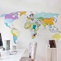 Wall Map Decal   myideasbedroom.com