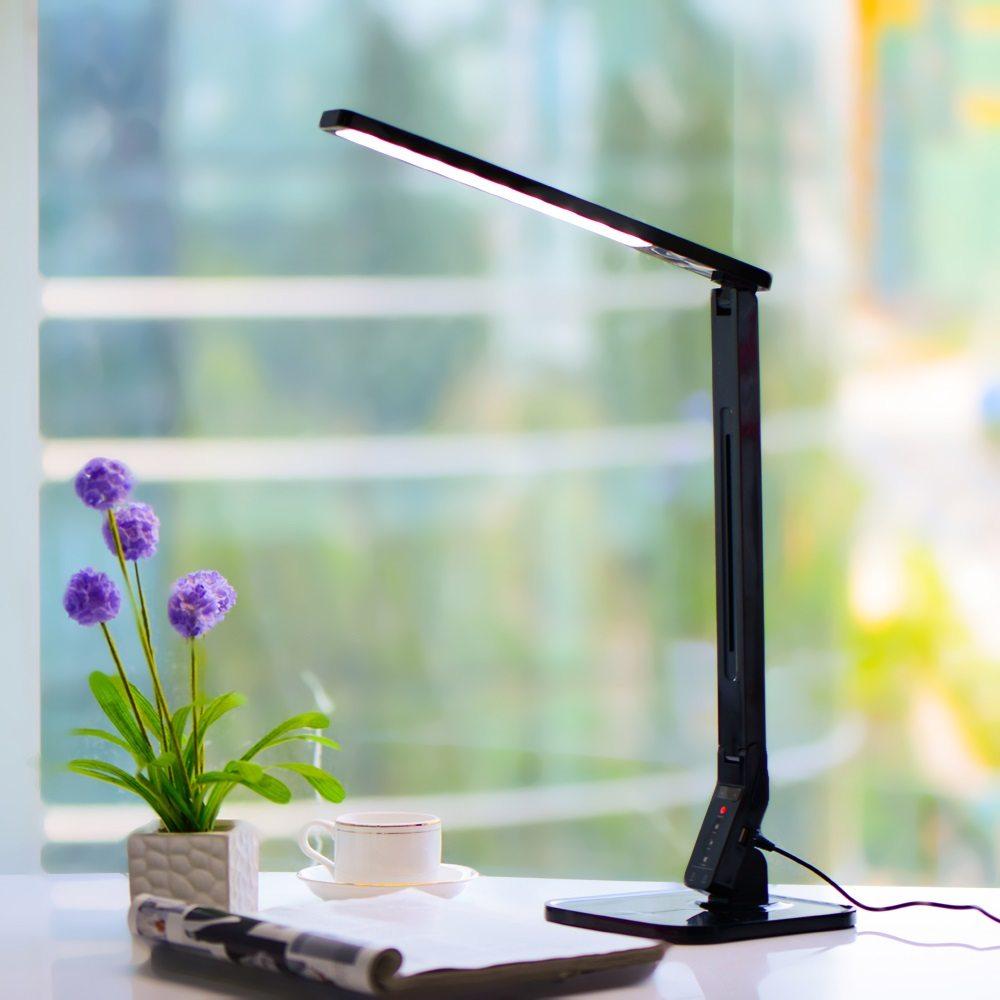 Natural Light Smart LED Tilting Head Desk Lamp  Gadget Flow