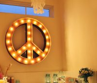 Peace Sign by Vintage Marquee Lights  Gadget Flow
