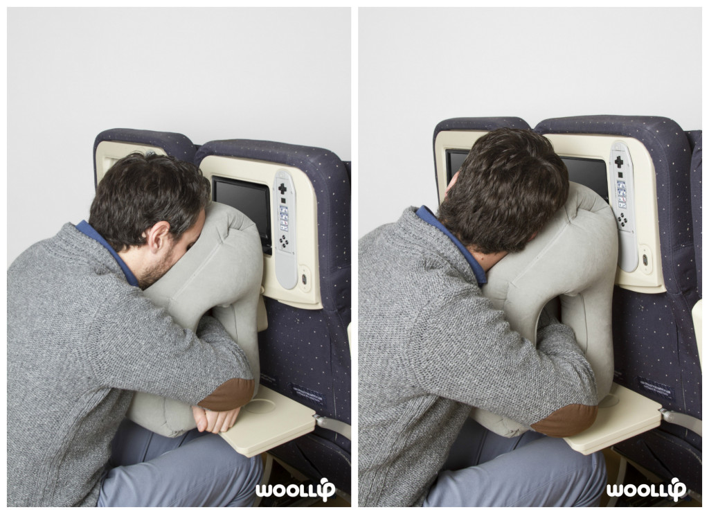 the woollip travel pillow lets you