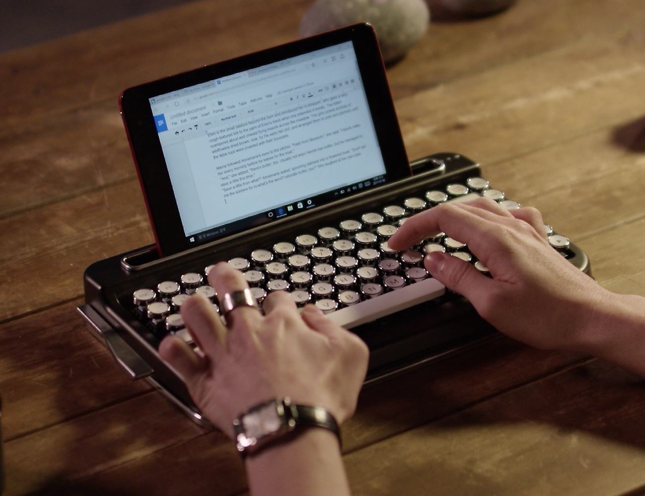 Penna Retro Bluetooth Keyboard 187 Gadget Flow
