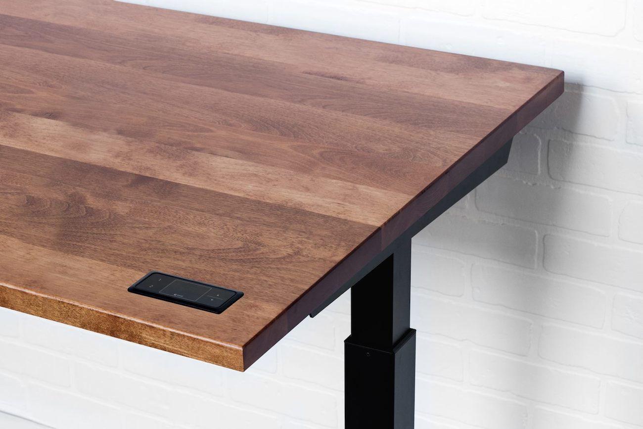 Sway Adjustable Height Wooden Desk  Gadget Flow