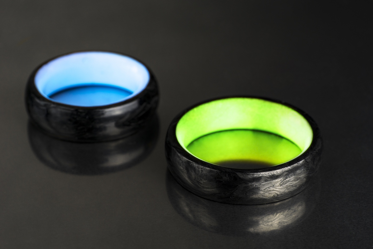 Nerbon Forged Carbon Fiber Glow Rings  Gadget Flow