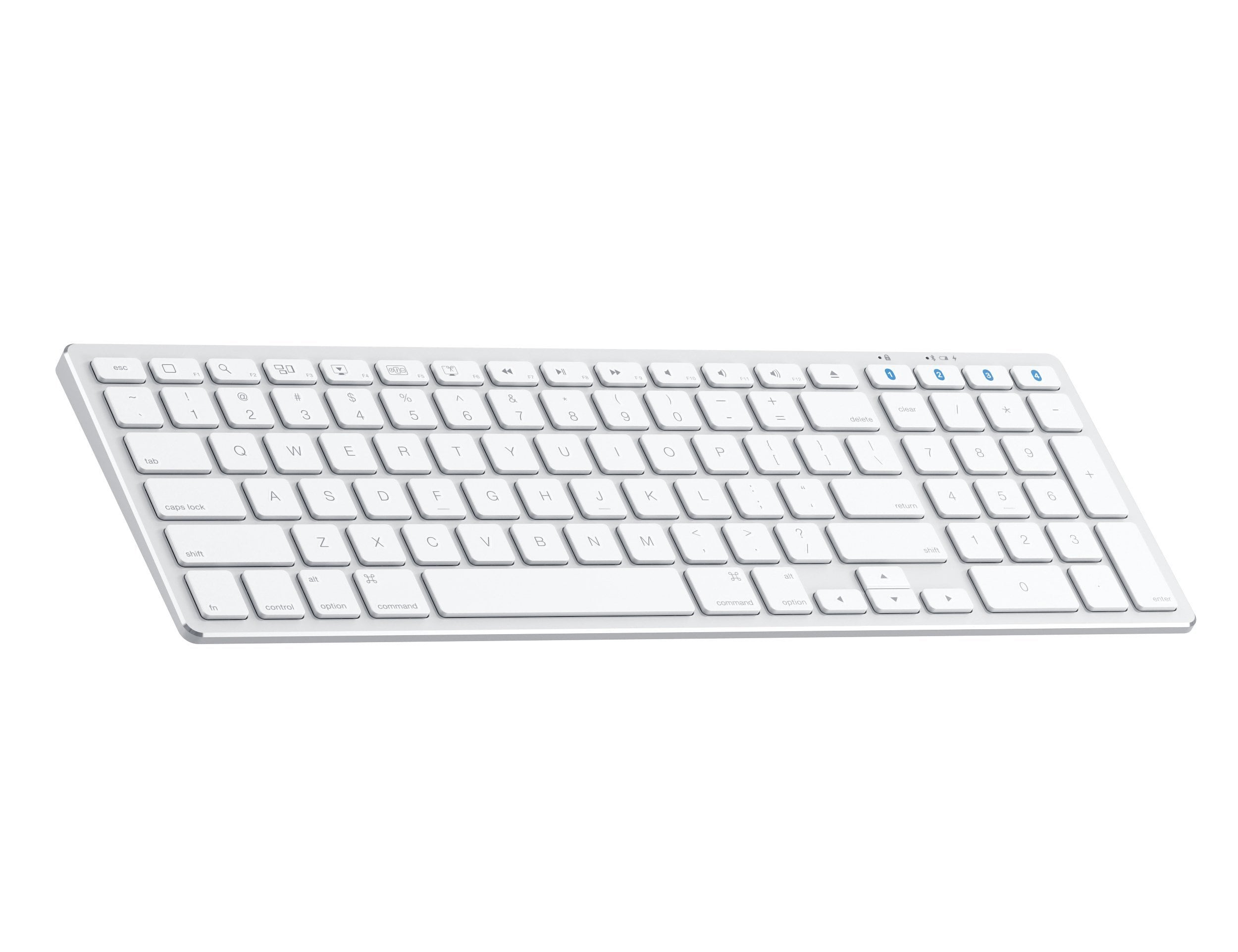 The Aluminum Slim Wireless Keyboard adds a full keyboard
