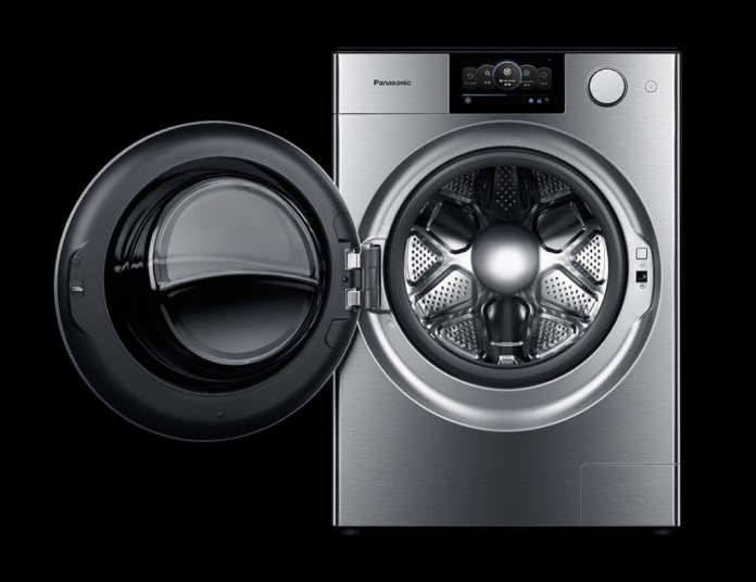 Panasonic Alpha smart washing machine has an automatic air filtration system