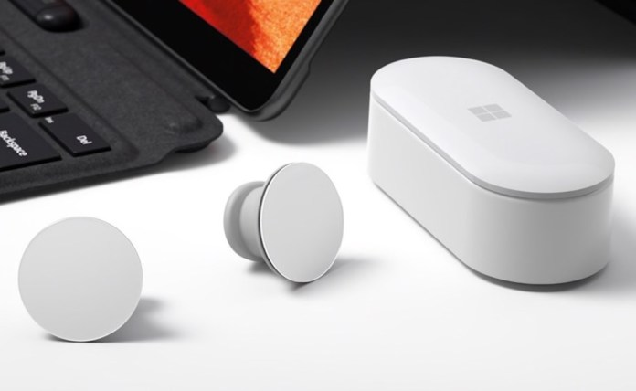 Surface Earbuds come with a charging case