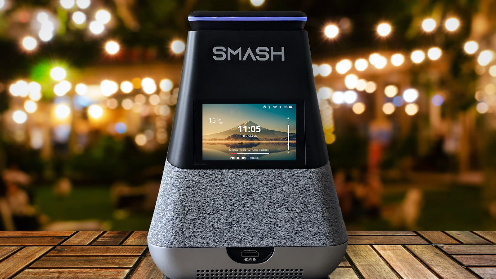 WooBloo SMASH portable smart projector boasts 300 lumens and 360º sound