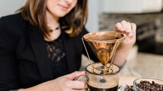Hibou Pour Over Copper Coated Coffee Dripper