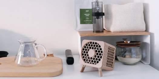 This compact air purifier lets you breathe clean air anywhere Bionic Cube portable filterless air purifier