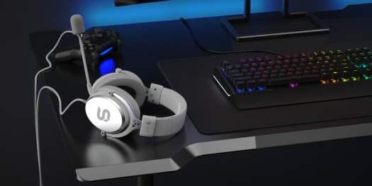 SPC Gear VIRO Plus Onyx White over-ear headset