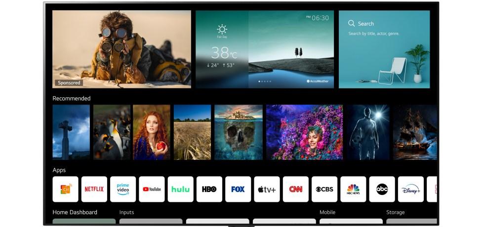 LG webOS 6.0. צילום יחצ