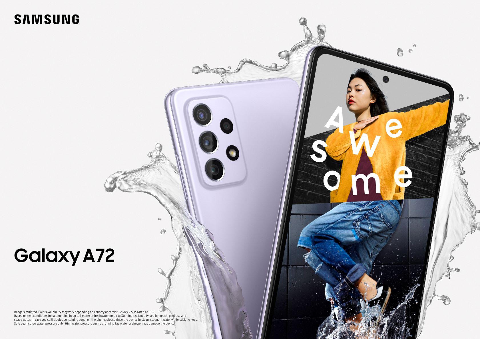 """סמסונג Galaxy A72. צילום יח""""צ"""